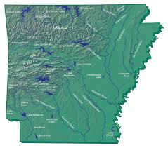 Arkansas Rivers images Hydrography map encyclopedia of arkansas jpg