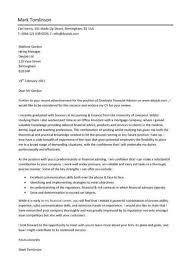 cover letter for financial advisor cover letter financial advisor