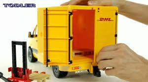 bruder garbage truck bruder 02534 dhl mercedes benz sprinter with manual pallet jack