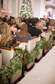 pew decorations for weddings ceremony décor photos garland pew decoration inside weddings