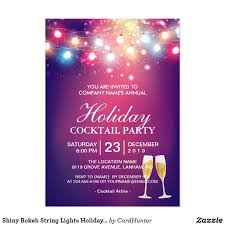 christmas cocktail party invitations bokeh lights christmas party invitation advertisement flyer maker