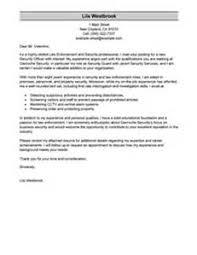 law enforcement cover letters letter of recommendation