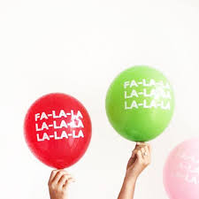 party balloons fa la la la la la la party balloons the flair exchange