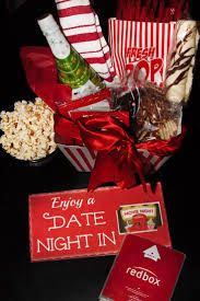 date gift basket ideas diy date in gift basket with redbox free printable gift