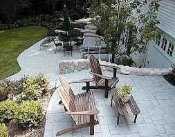 Small Backyard Deck Patio Ideas Concrete Patios Photo Gallery