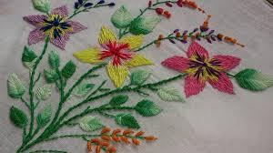 Fish Bone Stitch Embroidery Tutorials Embroidery Designs Embroidery Stitches Tutorial
