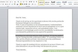 thank you letter examples interview how to write an interview thank you note with examples