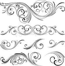 fancy ornamental scrolls designs swirls text font calligraphy