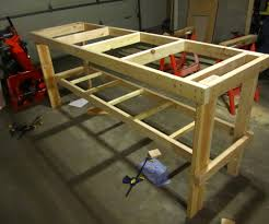 Workbench Designs For Garage No Frills Workbench 4 Steps With Pictures