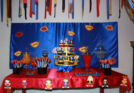 Superman Decoration Ideas by Elegant Affairs Superhero Birthday Party