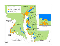 Hmong Map Map No 3 Of Striped Bass Regulations