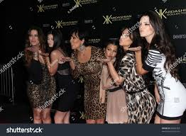 khloe kardashian kylie jenner kris jenner stock photo 83895763