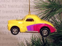 40 41 willys coupe 1940 1941 yellow purple ornament