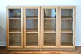 Small Bookcases With Glass Doors Ikea Bookshelves With Glass Doors Design Decoration