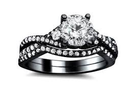 black wedding ring black wedding rings meaning the symbol of a strong relationship