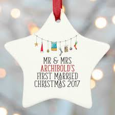 personalised christmas decorations notonthehighstreet com