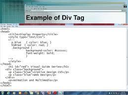 html div tag css selectors div span and link