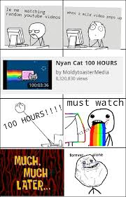Nyan Cat Meme - nyan cat 100 hours meme by blen memedroid