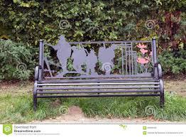 memorial benches world war 1 memorial bench stock photo image 62300045
