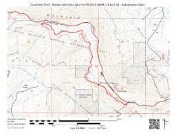 Ouachita Mountains Map Ouachita Trail 01 Potato Hill Vista Spur To Fr 6010 2 4 To 5 8