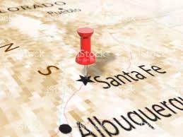 Santa Fe Map Pushpin On Santa Fe Map Stock Vector Art 666319642 Istock