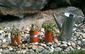 Tin Flower Vases Repurposed Tin Can To Flower Pot Vase U0026 Musical Instrument