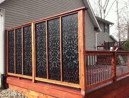 pergola enclosure ideas screen for deck privacy lattice panels