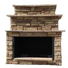 72 in random brown grand outdoor fireplace kit rbgfpl the home