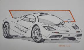 mclaren f1 drawing artstation inktober 2016 sketches sebas gomez