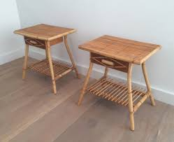 Rattan Side Table Vintage Rattan Side Tables Set Of 2 For Sale At Pamono