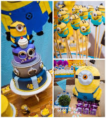 minion birthday cake ideas kara s party ideas minion themed birthday party planning ideas