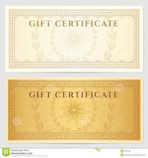 vintage voucher coupon template with border stock vector image