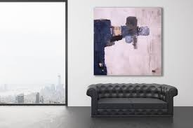 xl texture abstract painting blues and greys modern art