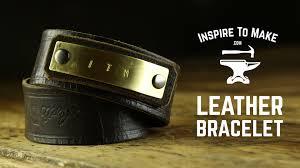 leather metal bracelet images Diy leather bracelet jpg