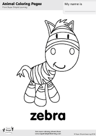 free zebra coloring page from super simple learning tons of free