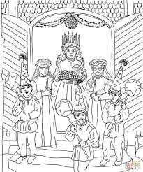 saint lucia day celebration coloring page free printable