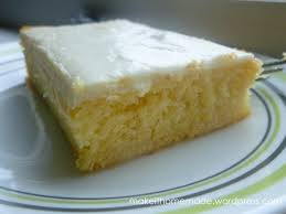 cool lemon sheet cake with cream cheese frosting make it homemade