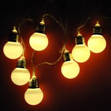 Battery Operated Fairy Lights by Battery Operated Large Festoon Bulb String Fairy Lights Timer Warm