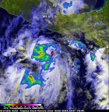 Mexico On Map by Extremely Dangerous Hurricane