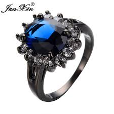 aliexpress buy junxin new arrival black aliexpress buy junxin blue ring black gold