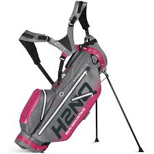 sun mountain h2no ultra lite golf stand bag grey pink aqua
