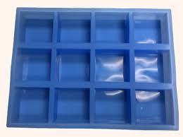 silicone square soap mold 12 cavity soap supplies