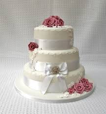 tiered wedding cakes dusky pink three tiered wedding cake with sugar paste flowers and