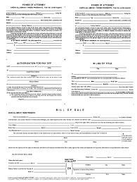 Power Of Attorney Form Nevada by Power Of Attorney Authorization To Payoff Bill Bpi Custom Printing