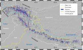 Himilayas Map Glacier Mass Change In The Himalayas