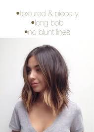 long bob textured hair pinterest long bob bobs and haircuts