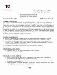 event management resume format luxury events manager resume event