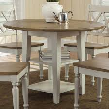 kitchen contemporary white dining table drop leaf table round