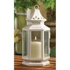 medium size white candle lantern