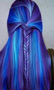 60 beautiful blue and purple hair color ideas hairstylec